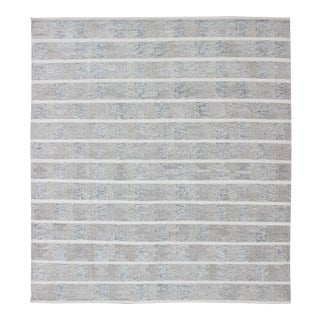 Modern Design Scandinavian Flat-Weave Rug With Neutral Colors For Sale