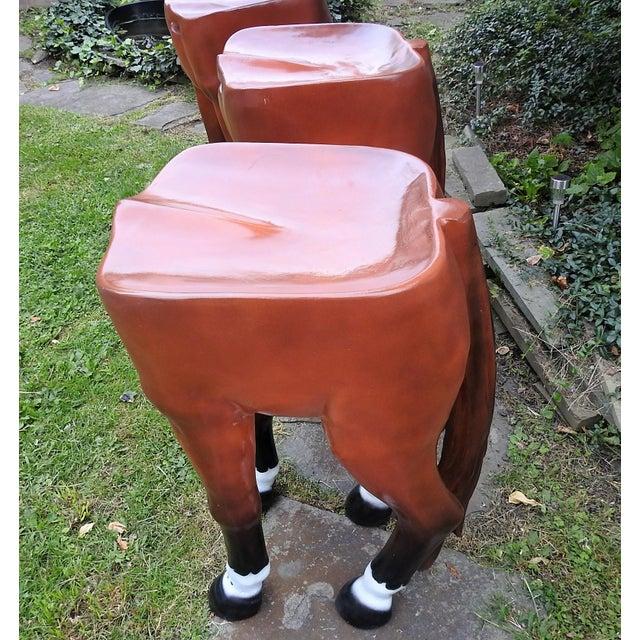 Horse-Shaped Bar Stools - Set of 3 - Image 5 of 6
