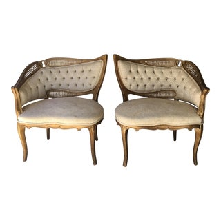 Asymmetrical Fireside Chairs, a Pair For Sale