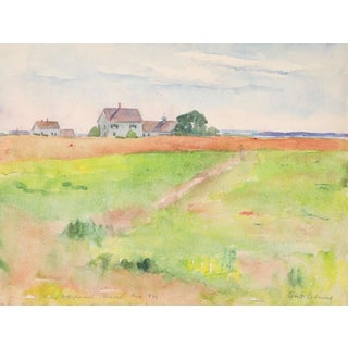 1921 South Harpswell Maine Egbert Cadmus Watercolor Painting For Sale