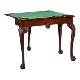 18th Century Mahogany Irish Games Table For Sale
