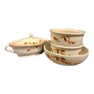 Vintage Hall China Jewel Tea Autumn Leaf Serving Dishes - 4 Pc. Set For Sale
