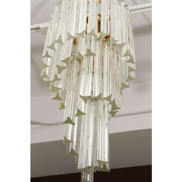Transparent Murano Glass Foyer Chandelier For Sale - Image 8 of 9