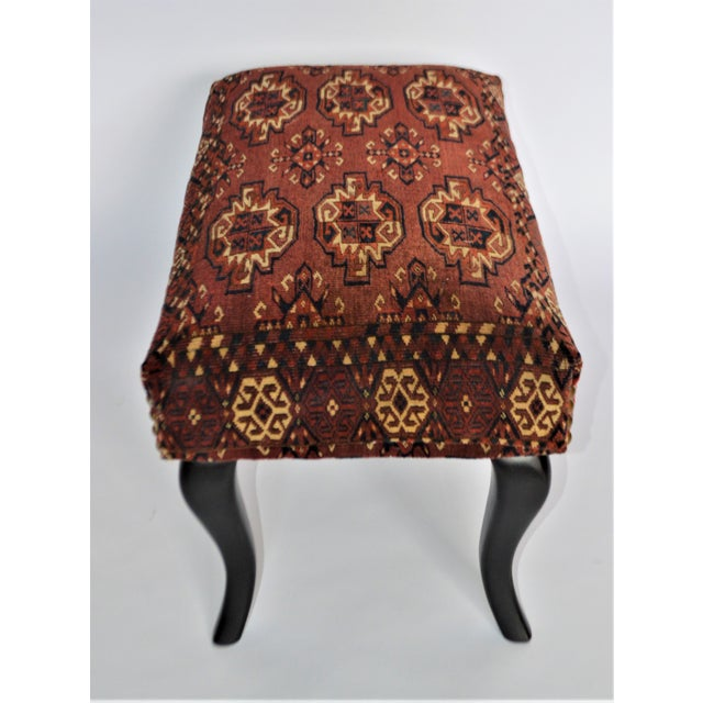 Antique 19th Century Rug Covered Bench For Sale In Buffalo - Image 6 of 10