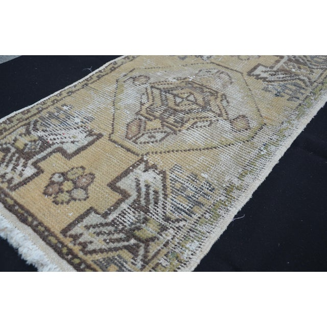 Turkish Decorative Rug - 1′6″ × 3′1″ For Sale - Image 5 of 6