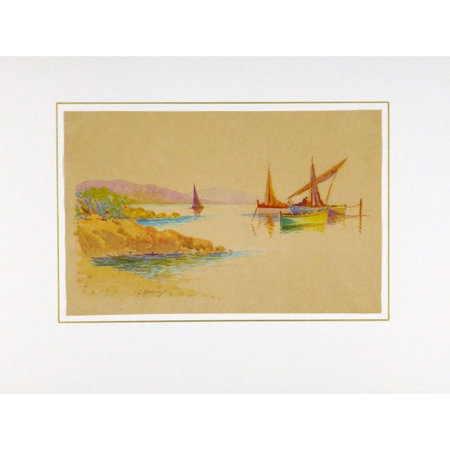 Original Rainbow Harbor Painting, C. 1940 - Image 4 of 4
