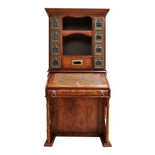 Vintage British Postal Secretary Desk- Post Office Storage