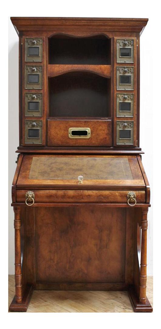 Vintage British Postal Secretary Desk  Post Office Storage