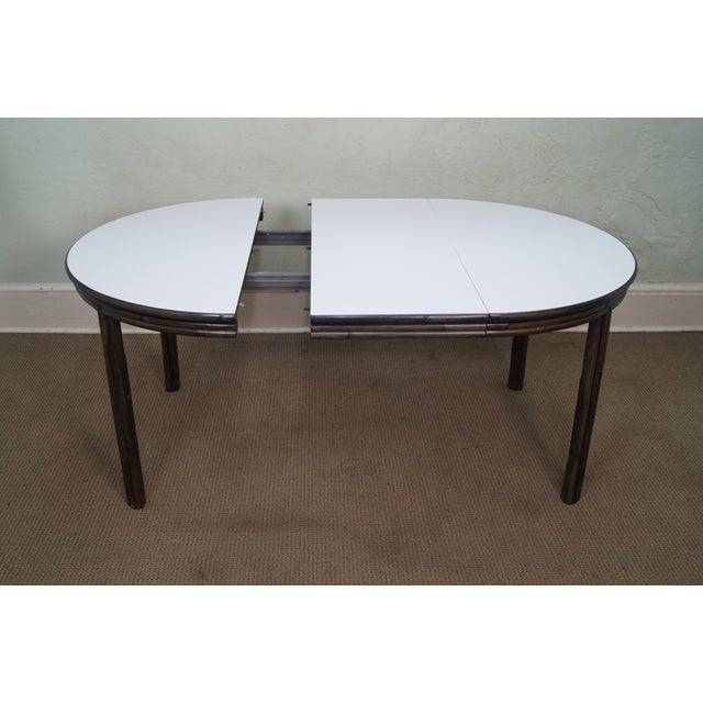 McGuire Vintage Bamboo Rattan Dining Table For Sale - Image 9 of 10