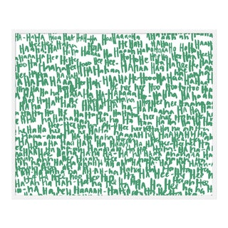 "Large ""haha Green One"" Print by Kate Roebuck, 45"" X 34"""