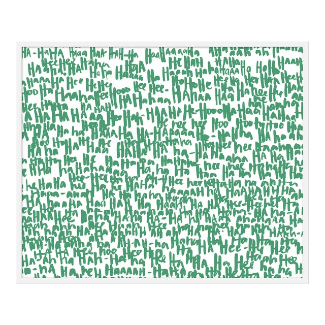 "Large ""haha Green One"" Print by Kate Roebuck, 45"" X 34"" For Sale"