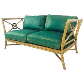 Vintage McGuire Love Seat For Sale