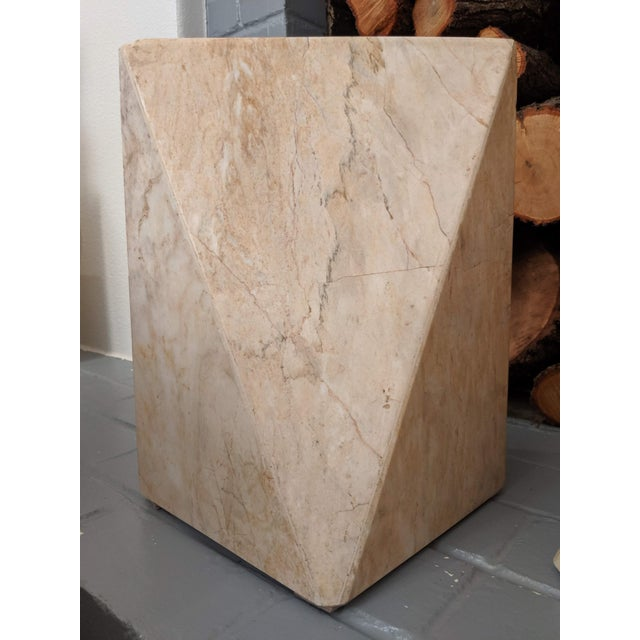Geometric Marble Sculptures, a Pair For Sale In Dallas - Image 6 of 9