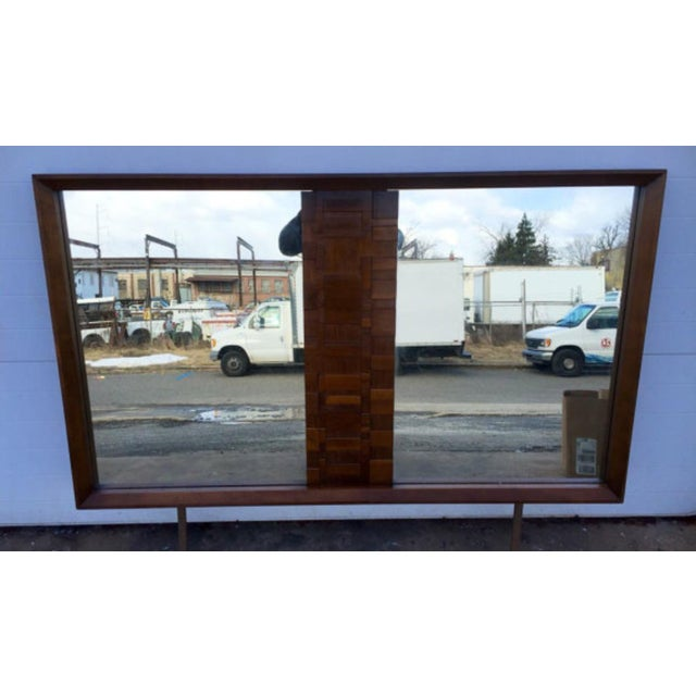 Lane Mid-Century Brutalist Style Mirror - Image 2 of 6