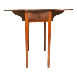 Federal Pembroke Drop Leaf Table, 18th Century Artisan Made, Authentic For Sale