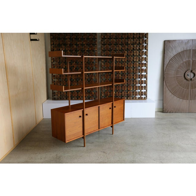 Mid-Century Modern Milo Baughman for Glenn of California Wall Unit For Sale - Image 3 of 11