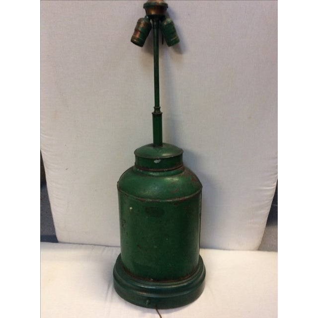 Antique English Tea Canister Lamp For Sale In San Francisco - Image 6 of 9