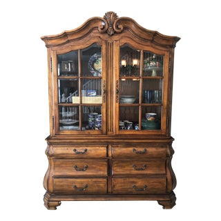 Ethan Allen Tuscany Collection Buffet With China Hutch