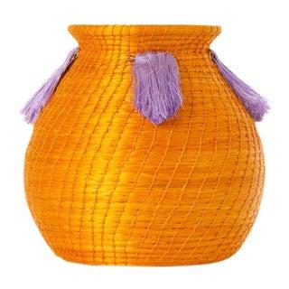 Mini Fanned Out Vase Bulbous Mango For Sale