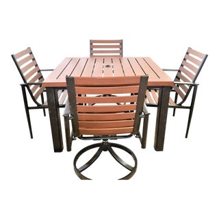 Hanamint Westfield Outdoor Furniture Showroom Sample - Set of 5 For Sale
