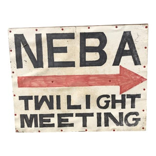 Vintage Neba Double Sided Hand Painted Sign