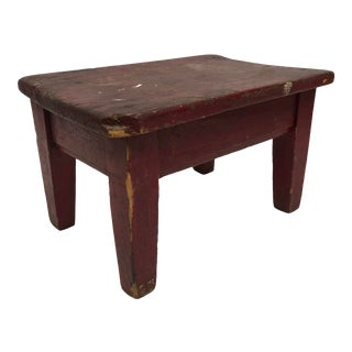 Vintage French Wood Milking Stool/Riser For Sale