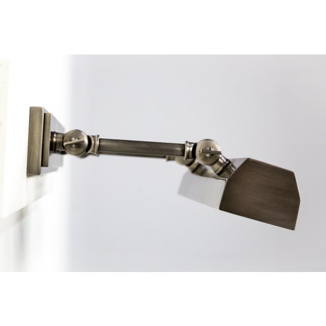 Custom Ann Morris Nickel Picture Light For Sale - Image 4 of 13