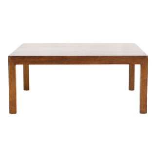1960s Mid Century Modern Edward Wormley for Dunbar Square Walnut Coffee Table For Sale