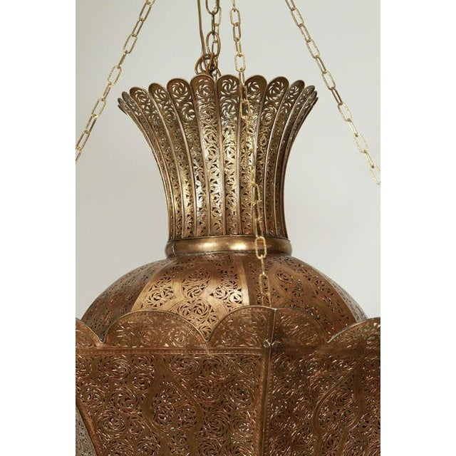 Brass Oversized Moroccan Moorish Brass Chandelier For Sale - Image 7 of 10