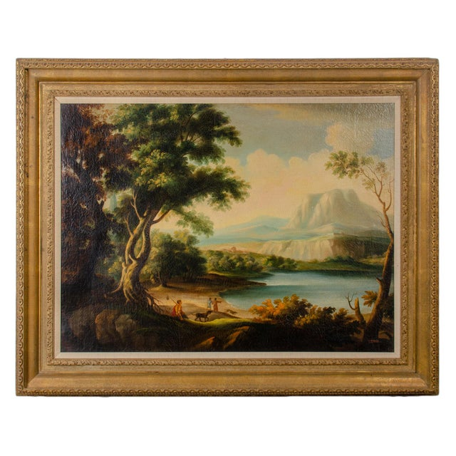 Early 20th Century Antique Buson Italianate Landscape Painting For Sale - Image 10 of 10