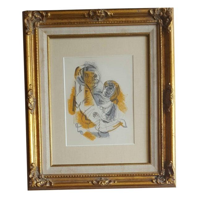 Original Abstract Drawing by Edward Goldman - Image 1 of 3