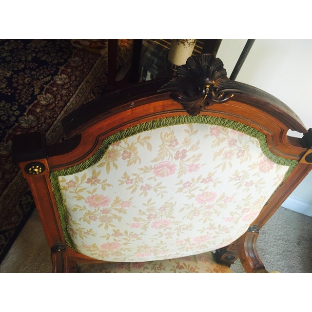 Antique Reupholstered French Armchair - Image 6 of 8