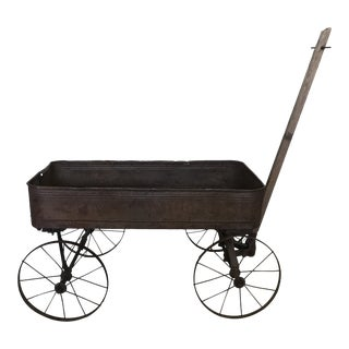 Early 1900's Child's Metal & Wood Wagon For Sale