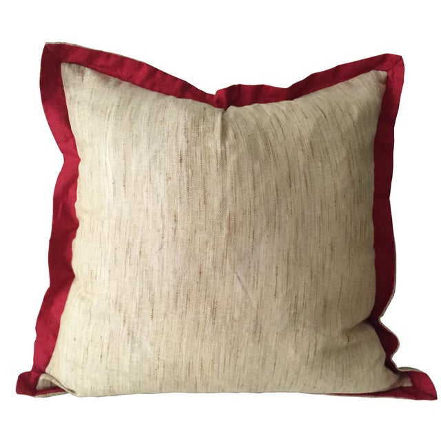 Boho Chic Mayur Peacock Pattern Pillow For Sale - Image 3 of 5