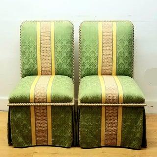 1990s Vintage Sally Sirken Lewis/ J. Robert Scott Dining Chairs- Set of 10 Preview