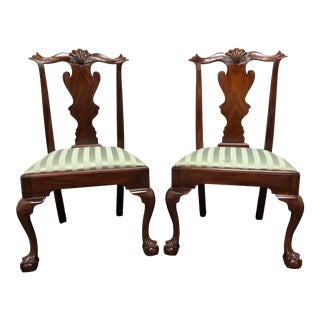 Henkel Harris Model 102 S Chippendale Ball Claw Dining Side Chairs - Pair 1 For Sale