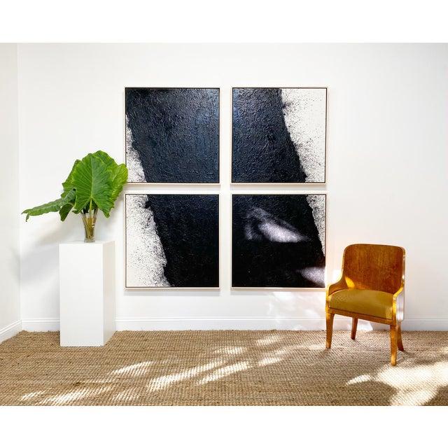 "John O'Hara John O'Hara ""Tar, 46 (Decontructed)"" Encaustic Painting, 4 Panels For Sale - Image 4 of 8"