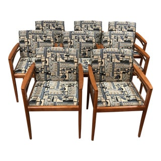 1960s Walnut Steelcase Dining Chairs - Set of 8 For Sale