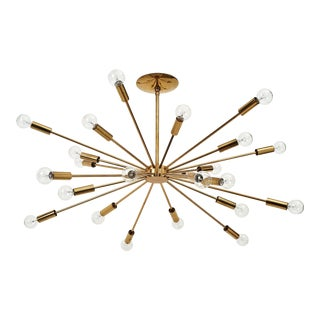 Gino Sarfatti 24 Light Brass 'Sputnik' Chandelier model 4081, ca. 1950 For Sale