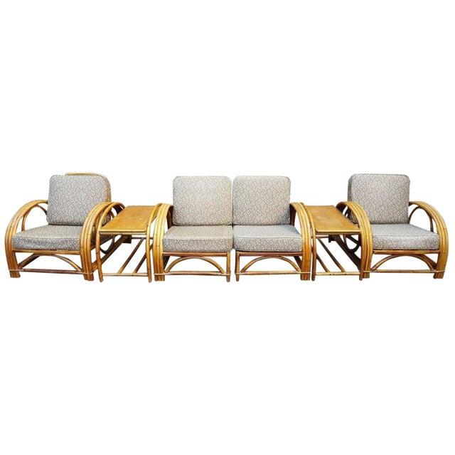 Vintage Paul Frankl Style Rattan Furniture - Set of 5 - Image 1 of 9