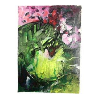 2017 Dh Morris Abstract Floral Still Life Painting For Sale