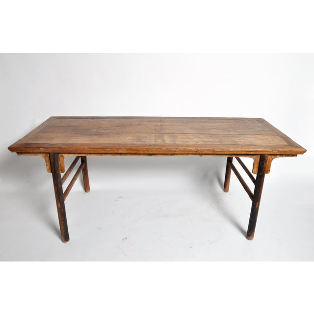 17th Century Chinese Painting Table with Round Legs For Sale - Image 5 of 13