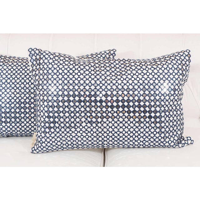 Contemporary Sparkly Pillows - A Pair For Sale - Image 3 of 7
