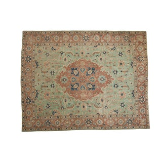"Vintage Distressed Tabriz Carpet - 8'5"" X 10'7"" For Sale"