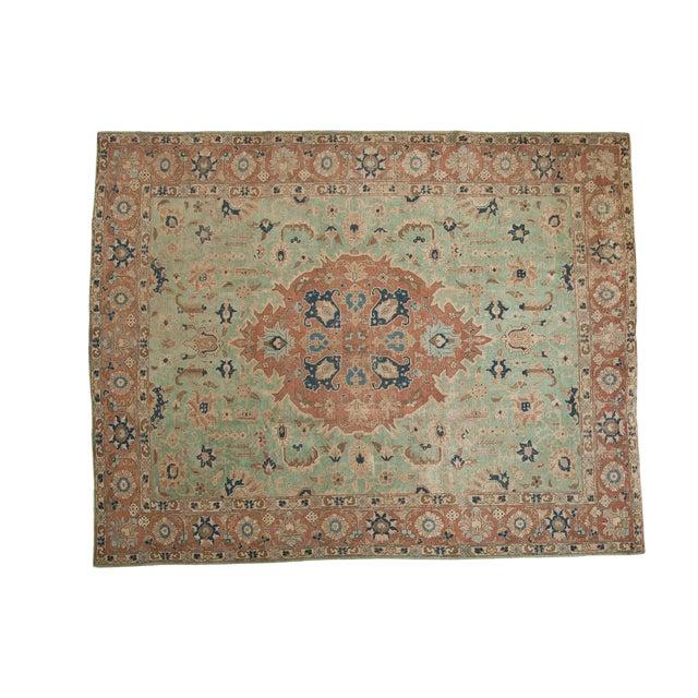 """Vintage Distressed Tabriz Carpet - 8'5"""" X 10'7"""" For Sale"""