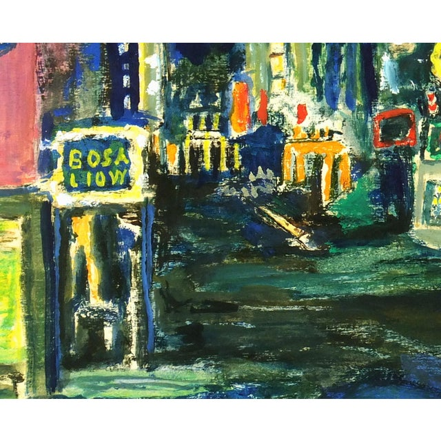 Modern Art Painting - Big City Nightlife - Image 3 of 4