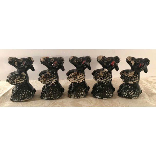 Black Poodle Shakers - Set of 5 For Sale In Dallas - Image 6 of 10
