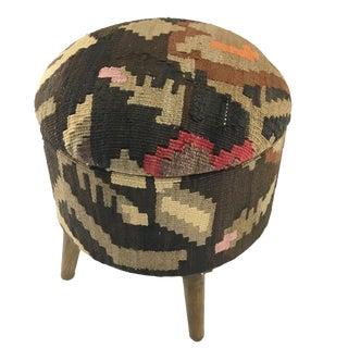 Kilim Footstool | Round Kilim Pouf