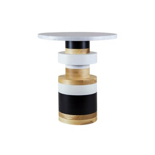 "Contemporary Ettorre Sottsass Sass Style Side Table - 16"" For Sale"