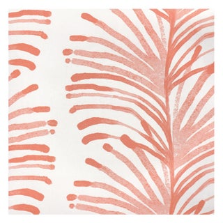 Sample - Pepper Emma in Coral Wallpaper For Sale
